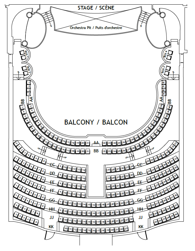 Photo of Imperial Theatre Seating Plan - Balcony